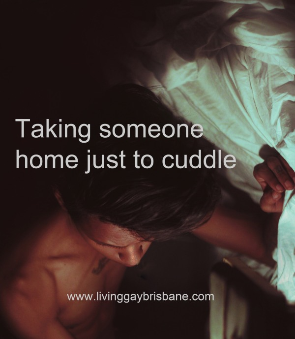 gay dating, cuddles